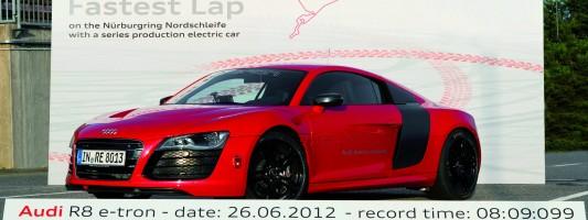 Audi R8 e-tron: Weltrekord auf die Nordschleife