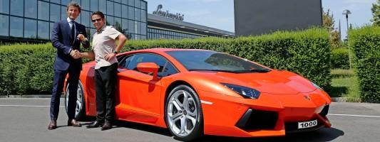 Der 1.000ste Lamborghini Aventador