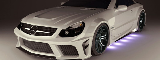 MEC SL (R230) Widebody-Kit & Felgen