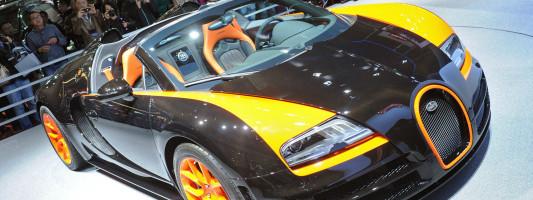 Bugatti Veyron 16.4 Grand Sport Vitesse auf der Auto Shanghai