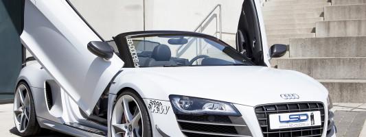 Audi R8 GT Spyder und Lamborghini Gallardo mit LSD-Doors