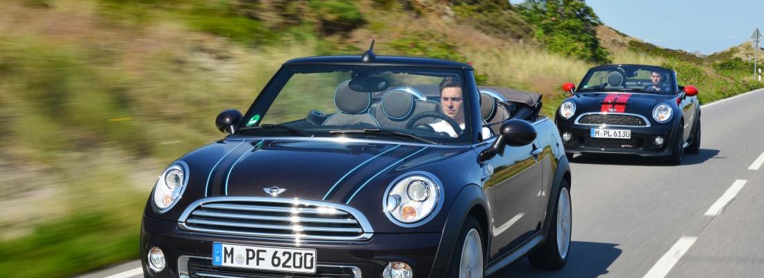 Mini Cabrio und Mini Roadster: Fahrspaß unter freiem Himmel