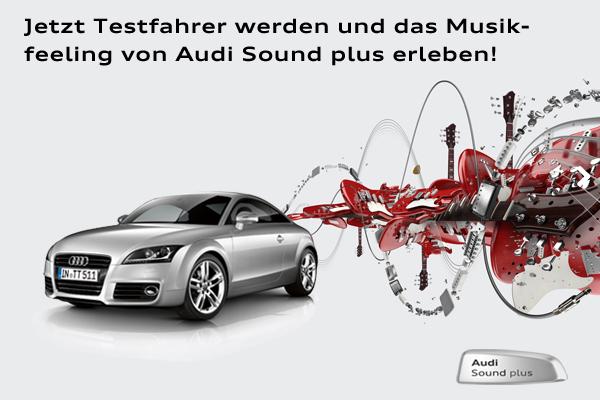 Audi Sound plus: Produkttester gesucht!