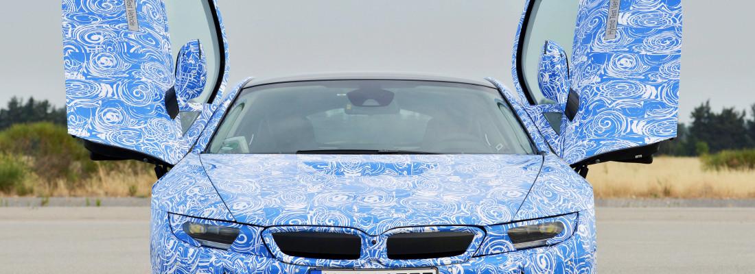 BMW i8: neuer Elektro-Sportler auf Testfahrt in Miramas