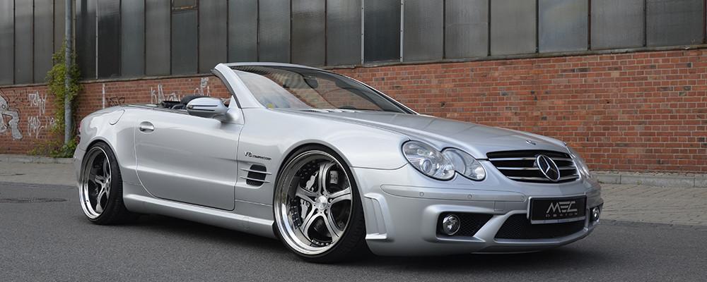 Mercedes Benz SL 55 AMG Tuning: mecxtreme Alu-Felgen von MEC Design