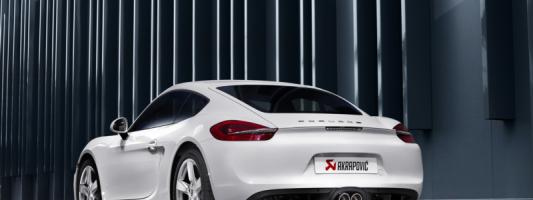 Porsche Cayman/Cayman S (981): neue Slip-On Line (Titan) Abgasanlage von Akrapovič